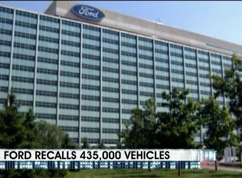 News video: Ford Recalls 435,000 Vehicles
