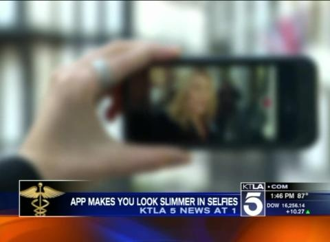 News video: New App Makes You Look Slimmer In Selfies
